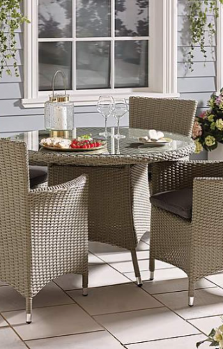 Perfect Garden Furniture Dining Set, Cayman Rattan 4 seat Dining Set